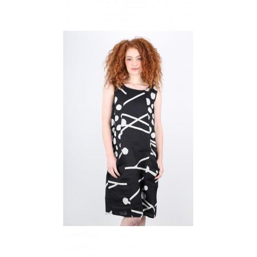 Foil Clothing Linen Dress