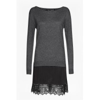 French Connection Jumper Dress Dark Grey/Black