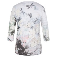 Olsen Dragonfly and Blossom Print T-Shirt