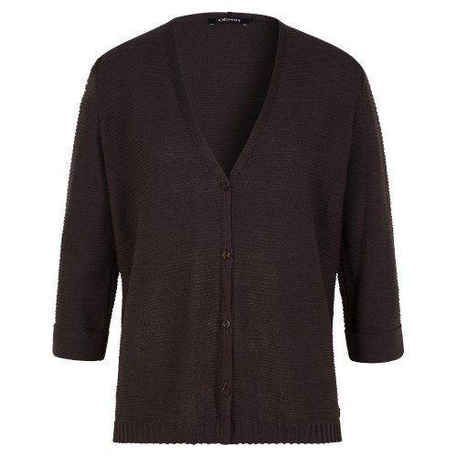 Olsen Chololate ribbed Cardigan