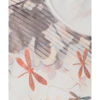 Olsen Dragonfly and Blossom White T-shirt