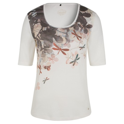 Olsen Dragonfly and Blossom White T-shirt