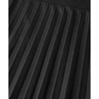 Olsen Black Pleated Skirt