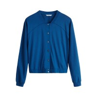 Sandwich Clothing Royal Blue Jersey Bomber Jacket