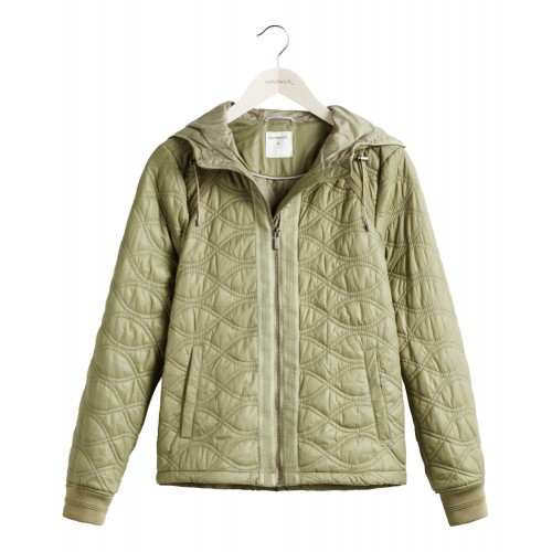 Sandwich Clothing Sage Green Padded Jacket