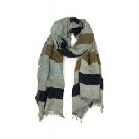 Sandwich Clothing Block Colour Scarf Pearl Grey