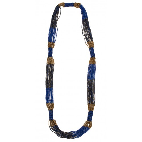 Sandwich Clothing Blue Multi Strand Beaded Necklace