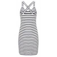 Sandwich Clothing Longline Vest Top Black Stripe