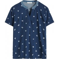 Sandwich Clothing Navy Heart Print Top