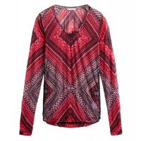 Sandwich Clothing Red Patterned Top