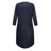 Sandwich Clothing Navy Linen Dress