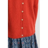 Seasalt Clothing Lino Cut Jumper Tomato