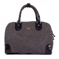 Troop London Small Canvas Holdall Black