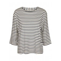 Two Danes Hatice Top Navy and Off White Stripe
