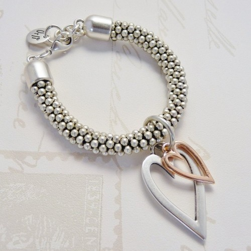 Orli Jewellery Open Hearts bracelet