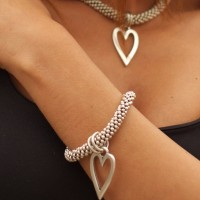 Orli Jewellery Open Heart Bracelet