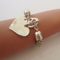 Orli Jewellery Bevelled Heart Bracelet