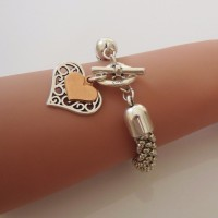 Orli Jewellery Filigree Heart Bracelet