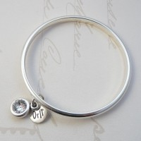 Orli Jewellery Clear Swarovski Crystal Bangle