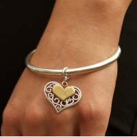 Orli Jewellery Filigree Heart Bangle