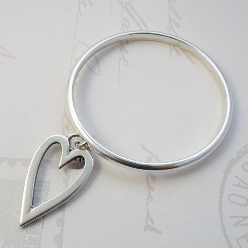 Orli Jewellery Open Heart  Bangle