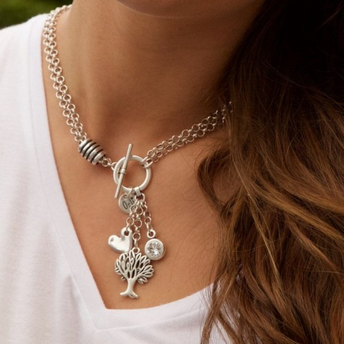 Orli Jewellery Double Chain Charms Necklace