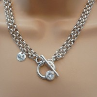 Orli Jewellery Double Chain Swarovski Necklace