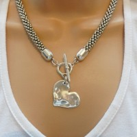Orli Jewellery Bevelled Heart Necklace