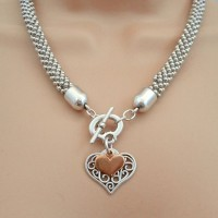 Orli Jewellery Filigree Heart Necklace