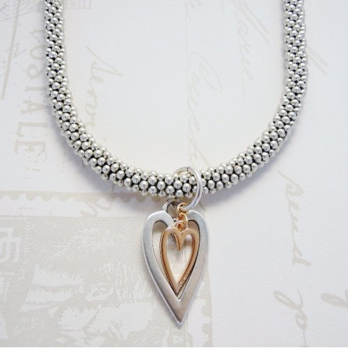 Orli Jewellery Open Hearts Drop Necklace