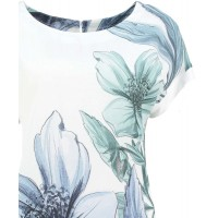 Pomodoro Clothing Denim Flower Dress