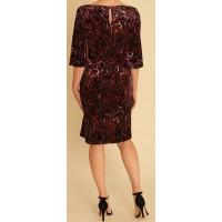 Pomodoro Velvet Paisley Dress